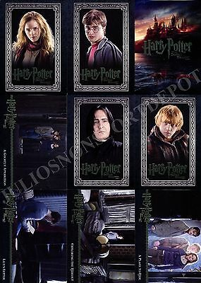 Harry Potter And The Deathly Hallows Movie Part 1 2010 Base Card Set Of 90