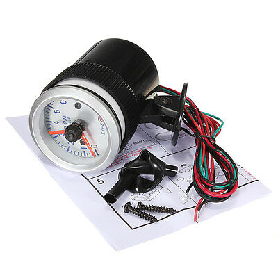"2"" 52mm Car Rev Counter Tacho Tachometer Pointer Gauge Meter Read 0-8000 RPM"