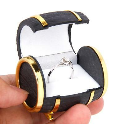 Beer Barrel Design Ring Earring Jewelry Display Storage Box Case Xmas Wedding