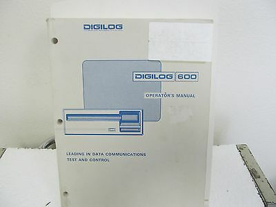 Digilog 600 Protocol Analyzer Operator's Manual