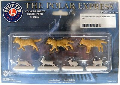 O Scale The Polar Express Wolves & Rabbits Animal Pack - Lionel #6-24252