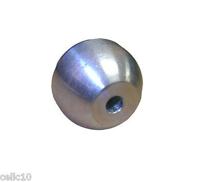 "Corona Ball for Steel Whip - 5/8"" Solid Machined Aluminum Static Ball - USA Made"