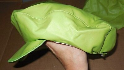 New DANCE TAP JAZZ HAT Pleather Lime Newsboy style Child adult one size