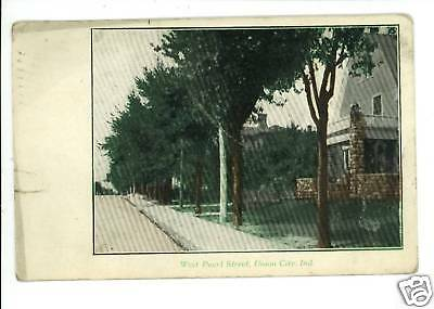 UNION CITY IN INDIANA PEARL STREET 1907  POSTCARD