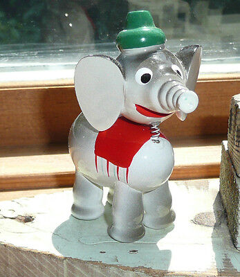Vintage Goula Spain Elephant Painted with Bobble head Old store Stock