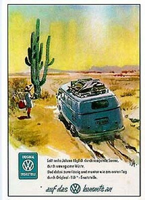 Volkswagen Bus VW Transporter Typ2 T1 Automobile Poster /Re print