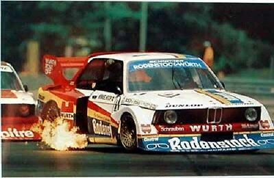 BMW 320 G5 Poster Re print Race Track Lap fire