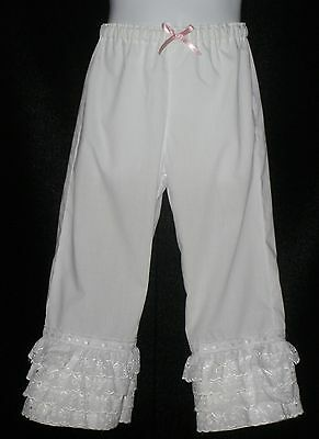 Girls Little Bo Peep Lace Trimmed Long Bloomers custom made sizes 1T to 7/8