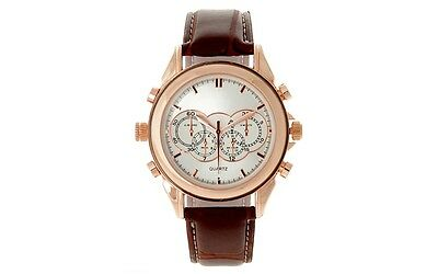 4GB MP3 Player Genuine Leather Luxury Watch with USB Connectio
