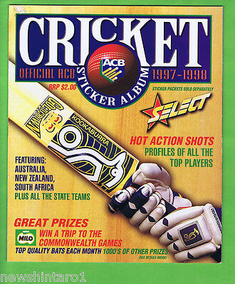 #t2. 1997 - 1998 Select Cricket Stickers In Album