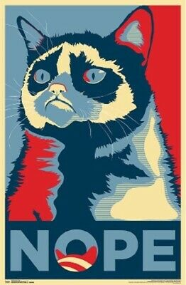 GRUMPY CAT ~ NOPE ICON 22x34 POSTER NEW/ROLLED!