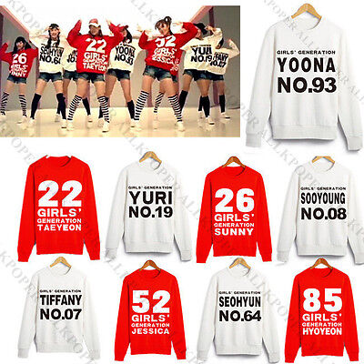 KPOP Girls' Generation Hoody/Sweater Uniform T-shirt Costume SNSD TaeYeon Yoona
