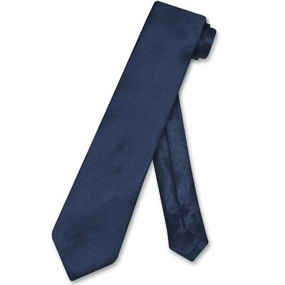Biagio BOY'S NeckTie Solid NAVY BLUE Color Youth Neck Tie
