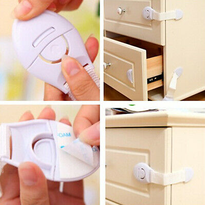 Child Infant Toddler Safety Locks for Fridge Drawer Door Cupboard Cabinet JT72