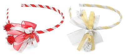Zest Christmas Ribbon Bow Alice Band Hair Accessory