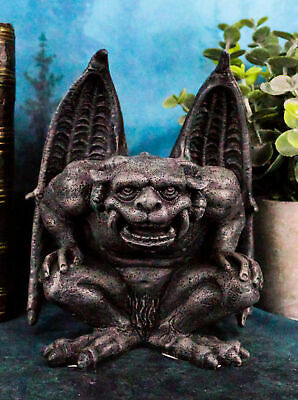 The Tower Guardian Series Roaring Ram Gargoyle Statue Figurine Resin