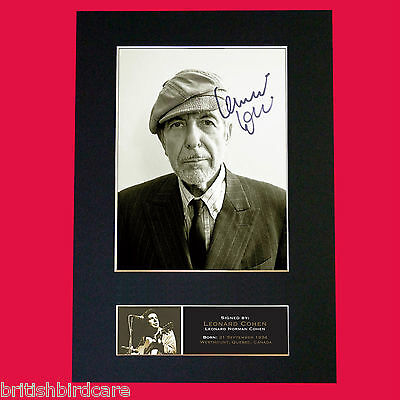LEONARD COHEN Signed Autograph Mounted Photo Repro A4 Print 547