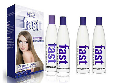 Fast Hair Growth Stimulator Accelerator Shampoo + 2 Conditioners No Sls Parabens