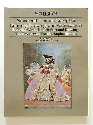 Sotheby's London 19 Century European Paintings Drawings Watercolours 1989
