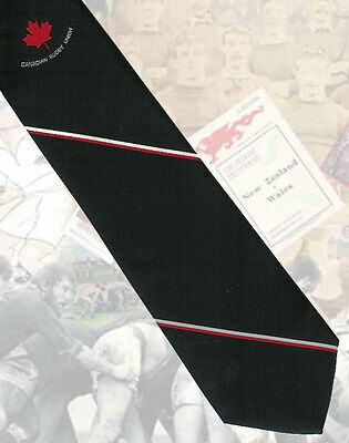 Canada - 'Canadian Rugby Union'  RUGBY INTERNATIONAL PLAYERS TIE 8.5cm
