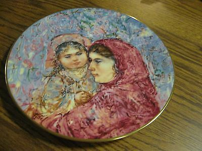 """ROYAL DOULTON """"LUCIA AND CHILD"""" AN  ORIGINAL WORK BY EDNA HIBEL 5TH IN SERIES"""
