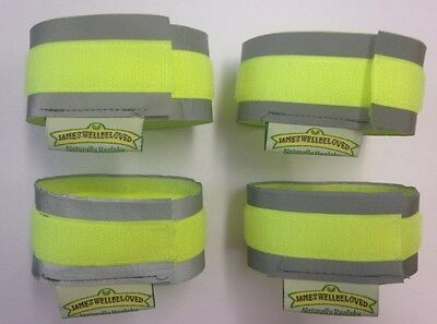 Cyclist / Cycling Reflective Hi Vis Cuffs Strips Fluorescent Protection Straps
