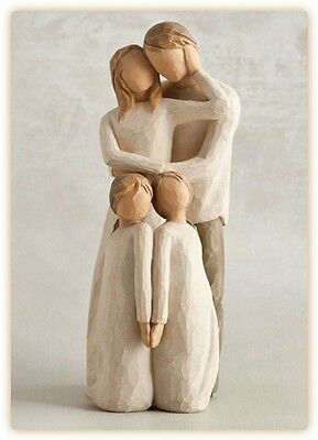 willow tree mother father with baby daughter figurine. Black Bedroom Furniture Sets. Home Design Ideas