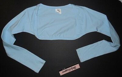 NWT Body Wrappers GIRLS BALLET Shrug #3200 Cotton spandex Long sleeve girls szs