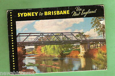 #d135. Foldout Postcard - Sydney To Brisbane Via New England