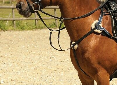 Windsor leather 5 five point breastplate with martingale black or havana