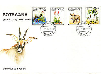 Botswana Fdc 1983 Endangered Species