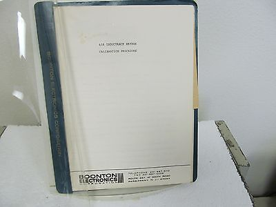 Boonton 63A Inductance Bridge Calibration Procedure Manual w/schematic