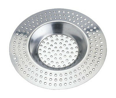 Pack of 2 Wenko Stainless Steel Bath and Shower Strainers Hair Traps Size 7cm