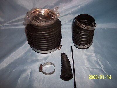 Mercruiser Alpha One Gen 2 Bellows Rubber Boots , screw clamps & ring insert A/M