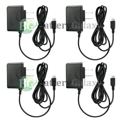 4 NEW Rapid Micro USB Battery Home Wall Travel Charger For Cell Phone 600+SOLD