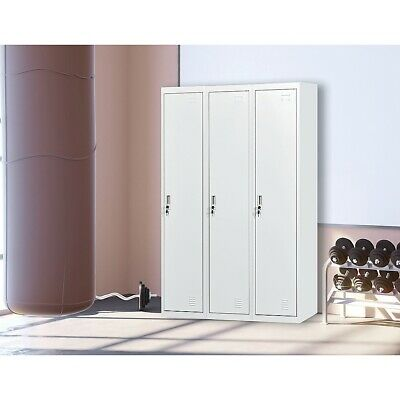 Three-Door Side by Side Office Gym Shed Storage Lockers