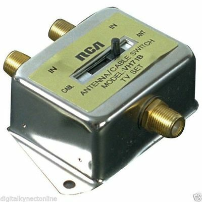 RCA A/B Coax Slide Switch for Antenna/Cable (VH71R)
