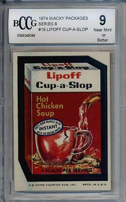 1974 Wacky Packages Series 8 # 19 Lipoff Cup-a-Slop BCCG 9