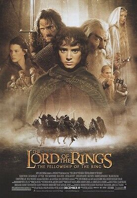 LORD OF THE RINGS MOVIE POSTER ~ FELLOWSHIP RING REGULAR 27x39 Peter Jackson