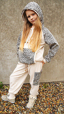 Flukes designer childrens hoody top joggers leopard casual trendy stylish outfit