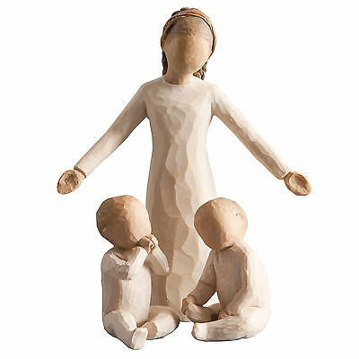 Willow Tree Siblings Big Sister and Twin Babies Figurine Gift Set Family Group