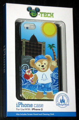 DISNEY PARKS Aulani Duffy Bear iPhone 5 Case w/ Screen Guard & Cleaning Cloth