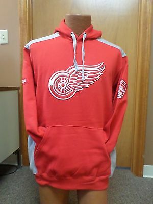 wholesale dealer 7e95c 3b2ae NHL DETROIT RED Wings Majestic Hooded Sweatshirt NWT!