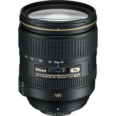 Nikon 24-120mm f/4G ED VR Nikkor FULL FRAME FX Lens NEW +5 YEAR NIKON WARRANTY