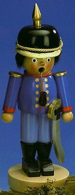 Steinbach SIGNED Policeman German Christmas Incense Smoker Handcrafted Germany