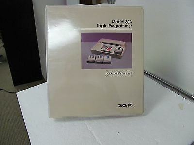 Data I/O 60A Logic Programmer Operator's Manual