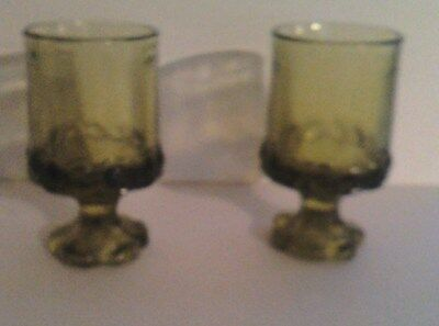 FRANCISCAN TIFFIN MADEIRA GREEN JUICE WINE GLASS 4 7/8 INCHES TALL