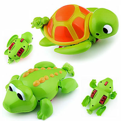 Swimming Turtle & Crocodile Pool Wind Up Toys for Baby Children Kids Bath Time