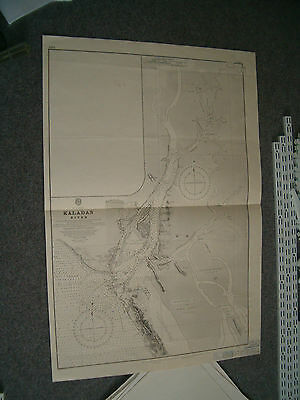 Vintage Admiralty Chart 1884 BAY OF BENGAL - KALADAN RIVER 1949 edition