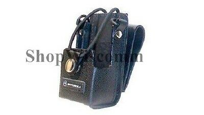 Motorola PMLN4471B Hard Leather Carry Case w/Swivel & D-Rings EX500 EX600 EX560